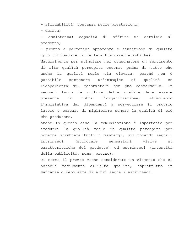 Anteprima della tesi: Costruzione e gestione della marca, Pagina 9