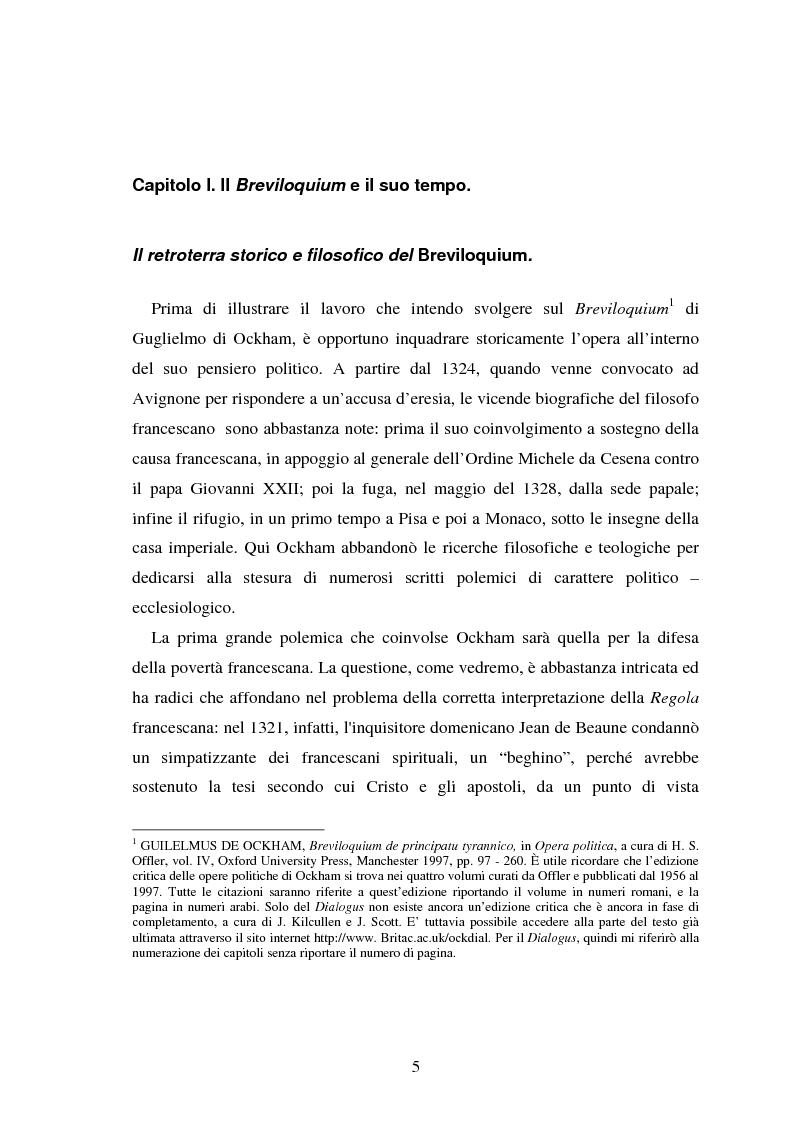 Anteprima della tesi: La Bibbia nel Breviloquium di Ockham. La funzione argomentativa delle citazioni scritturali nel dibattito tra Ockham e i sostenitori della teocrazia pontificia, Pagina 3