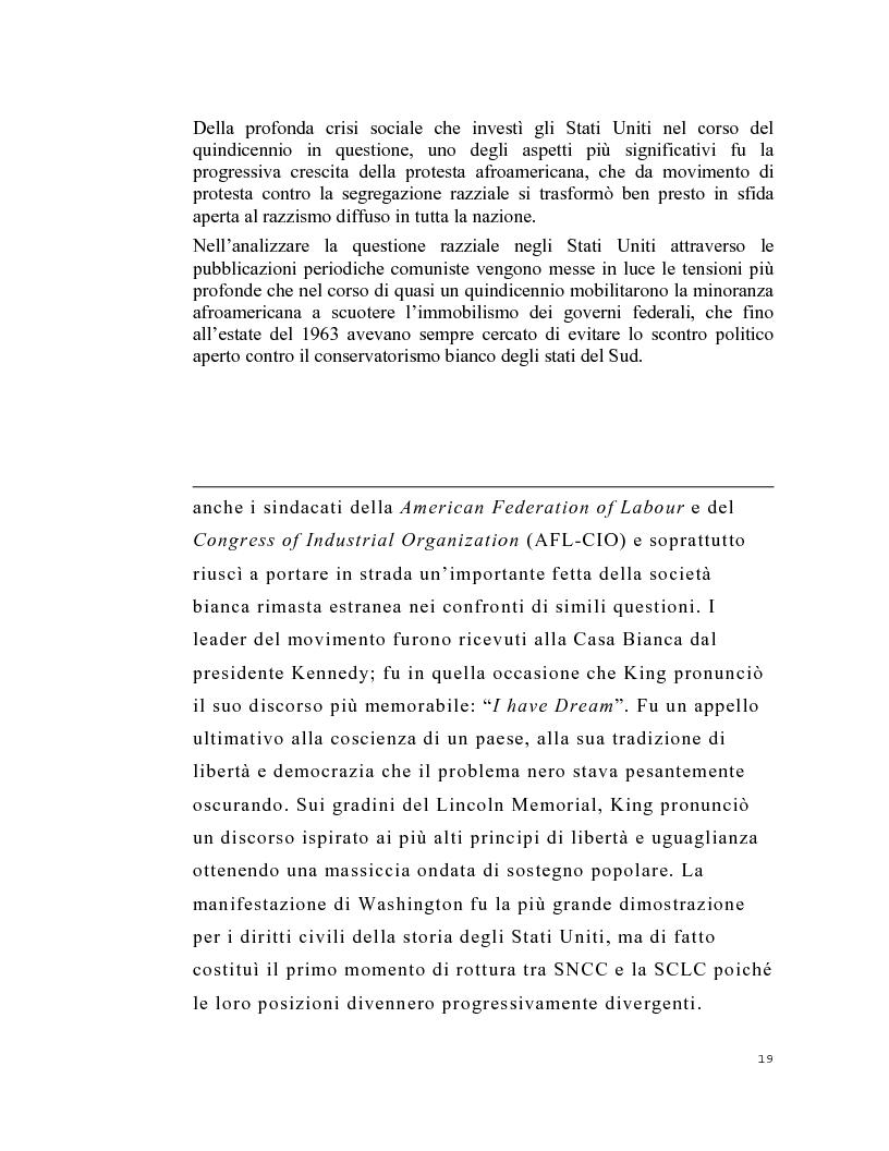 Anteprima della tesi: La stampa periodica comunista italiana e il movimento afroamericano negli Stati Uniti, 1954-68., Pagina 15