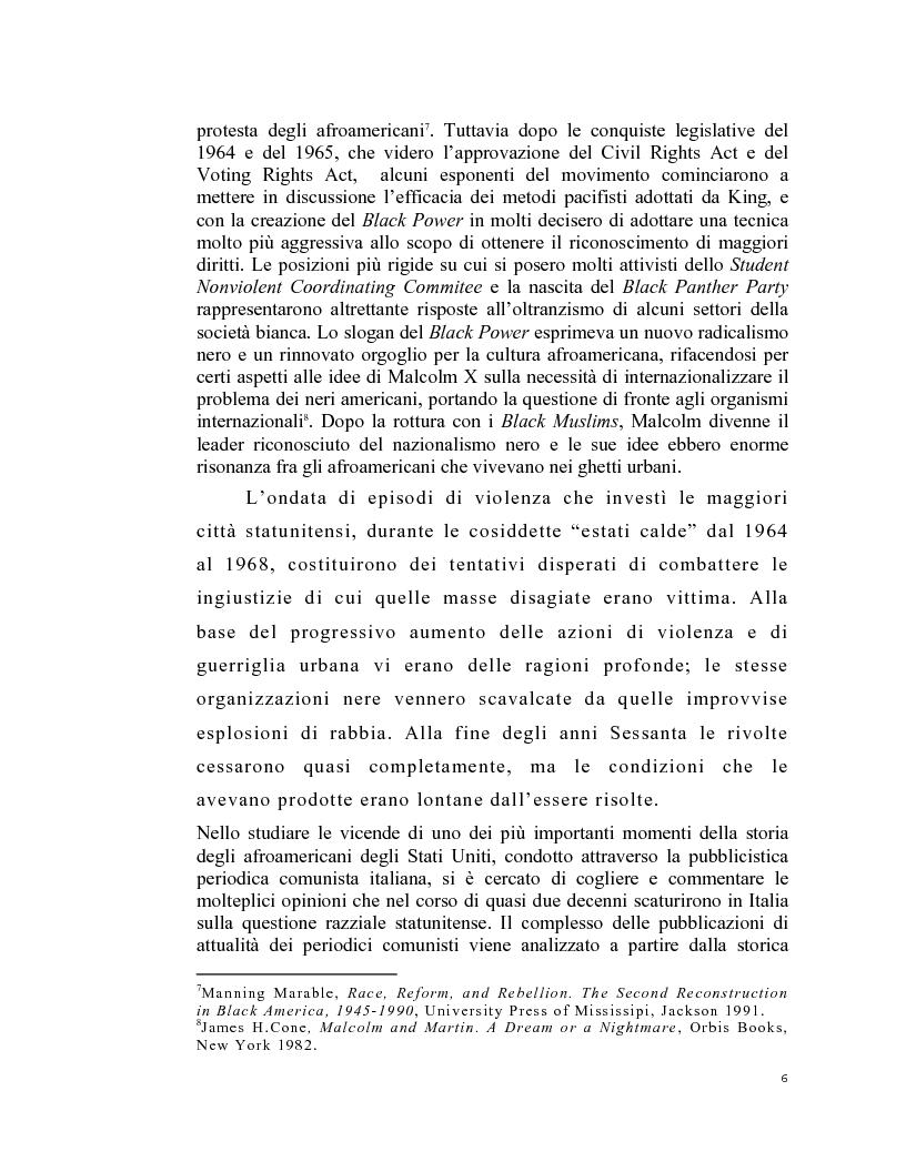 Anteprima della tesi: La stampa periodica comunista italiana e il movimento afroamericano negli Stati Uniti, 1954-68., Pagina 2