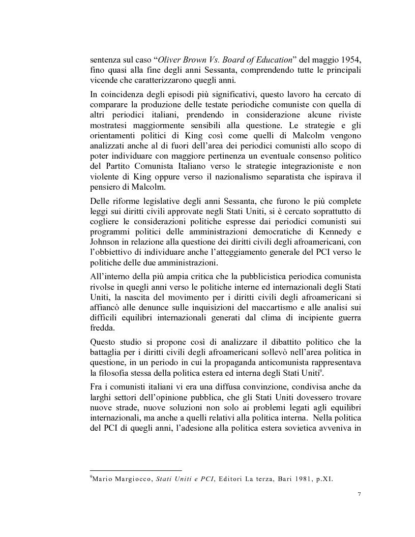 Anteprima della tesi: La stampa periodica comunista italiana e il movimento afroamericano negli Stati Uniti, 1954-68., Pagina 3