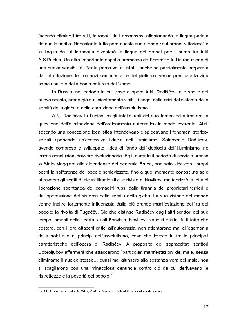 Anteprima della tesi: Vita di Fëdor Vasilevič Ušakov e alcuni suoi scritti di A. N. Radiščev, Pagina 10