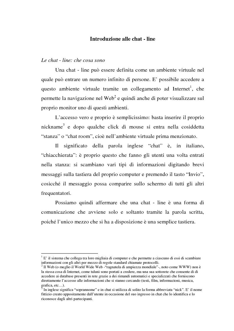 Il linguaggio delle chat in Spagna - Tesi di Laurea