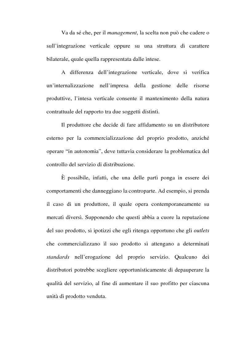 Anteprima della tesi: Problemi relativi alla fissazione del prezzo di rivendita nelle intese verticali, Pagina 15