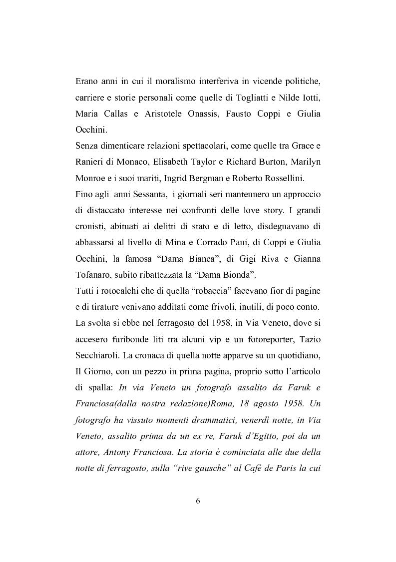 Anteprima della tesi: Love story. Appunti di una storia del gossip in Italia, Pagina 2