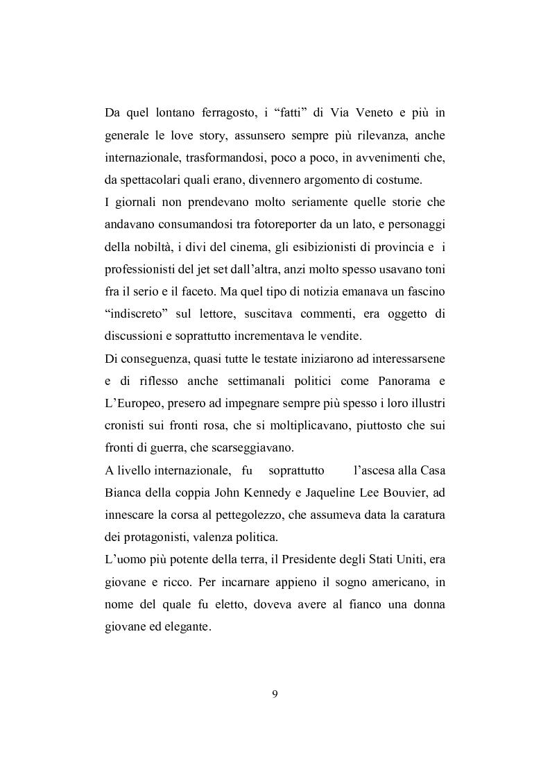 Anteprima della tesi: Love story. Appunti di una storia del gossip in Italia, Pagina 5