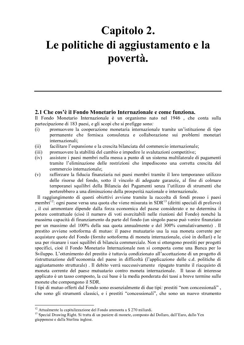 Anteprima della tesi: Gli effetti delle politiche di aggiustamento strutturale del Fmi sulla povertà. Il caso del Messico, Pagina 11