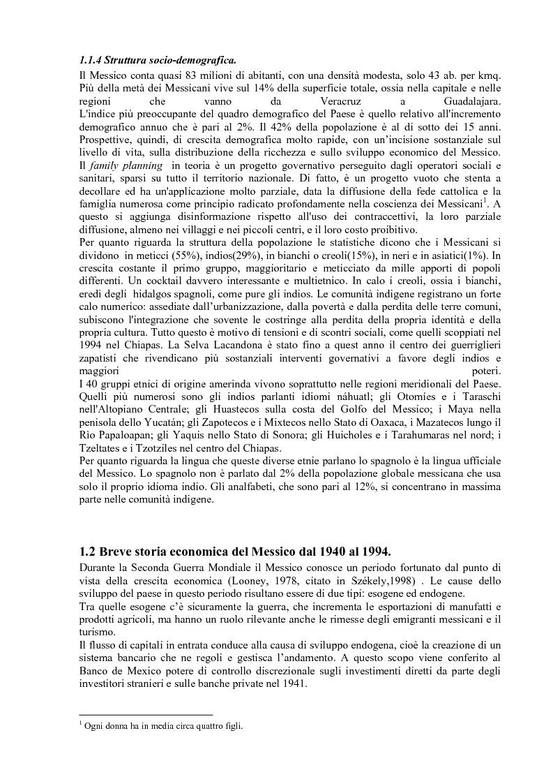 Anteprima della tesi: Gli effetti delle politiche di aggiustamento strutturale del Fmi sulla povertà. Il caso del Messico, Pagina 5