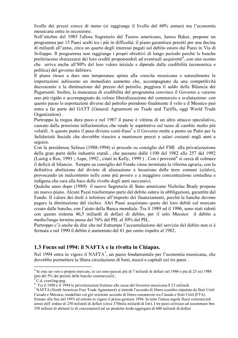 Anteprima della tesi: Gli effetti delle politiche di aggiustamento strutturale del Fmi sulla povertà. Il caso del Messico, Pagina 7