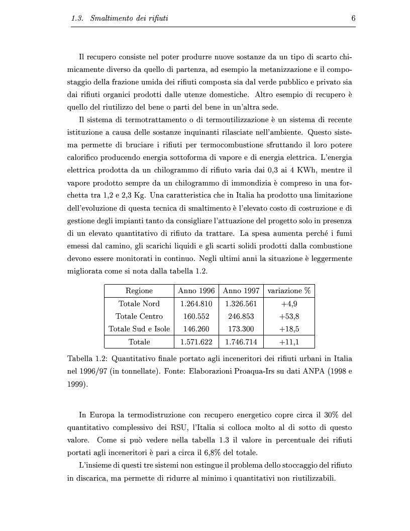 Anteprima della tesi: Determinazione e ottimizzazione dei percorsi di raccolta per i mezzi di un'azienda di igiene urbana: il caso dell'Amiu di Pordenone, Pagina 6