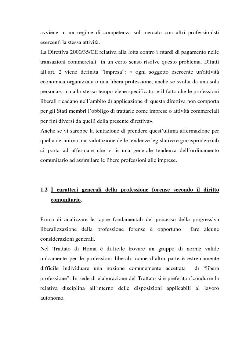 Anteprima della tesi: L'esercizio della professione forense da parte di avvocati di common law in Italia, Pagina 10
