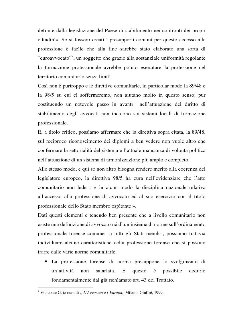 Anteprima della tesi: L'esercizio della professione forense da parte di avvocati di common law in Italia, Pagina 12