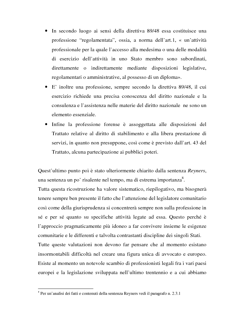 Anteprima della tesi: L'esercizio della professione forense da parte di avvocati di common law in Italia, Pagina 13