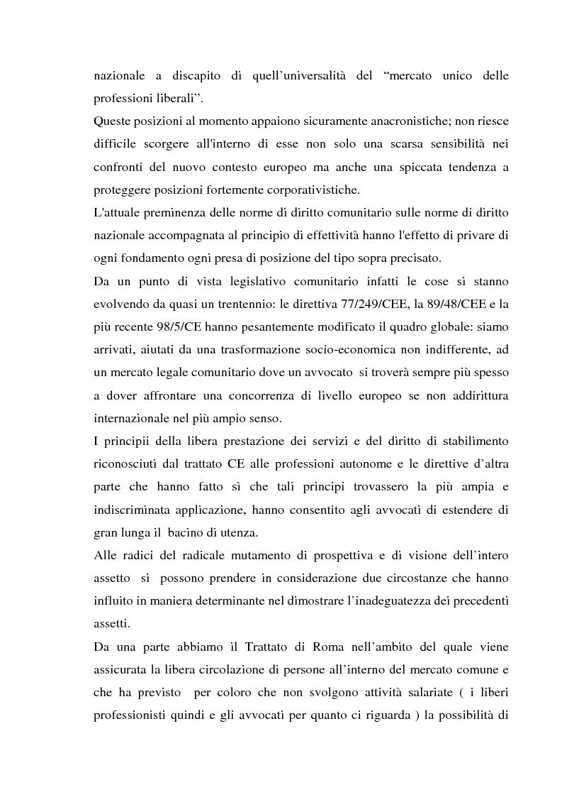Anteprima della tesi: L'esercizio della professione forense da parte di avvocati di common law in Italia, Pagina 2