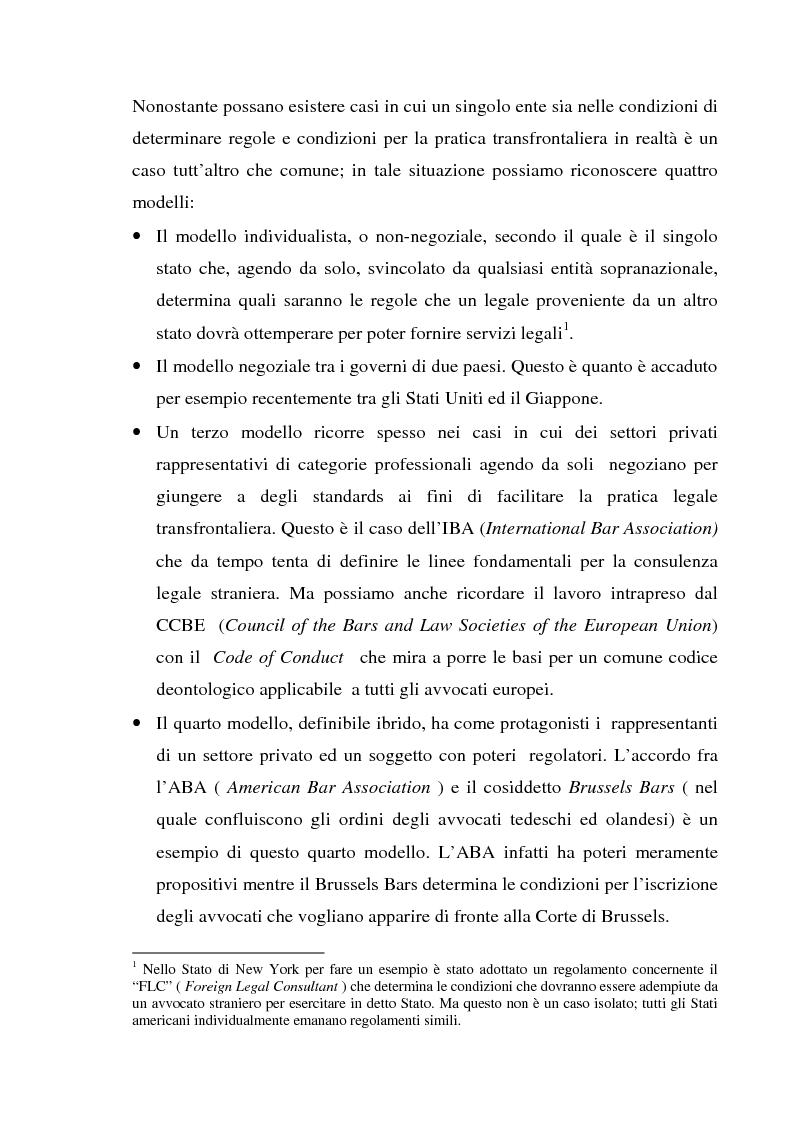 Anteprima della tesi: L'esercizio della professione forense da parte di avvocati di common law in Italia, Pagina 4