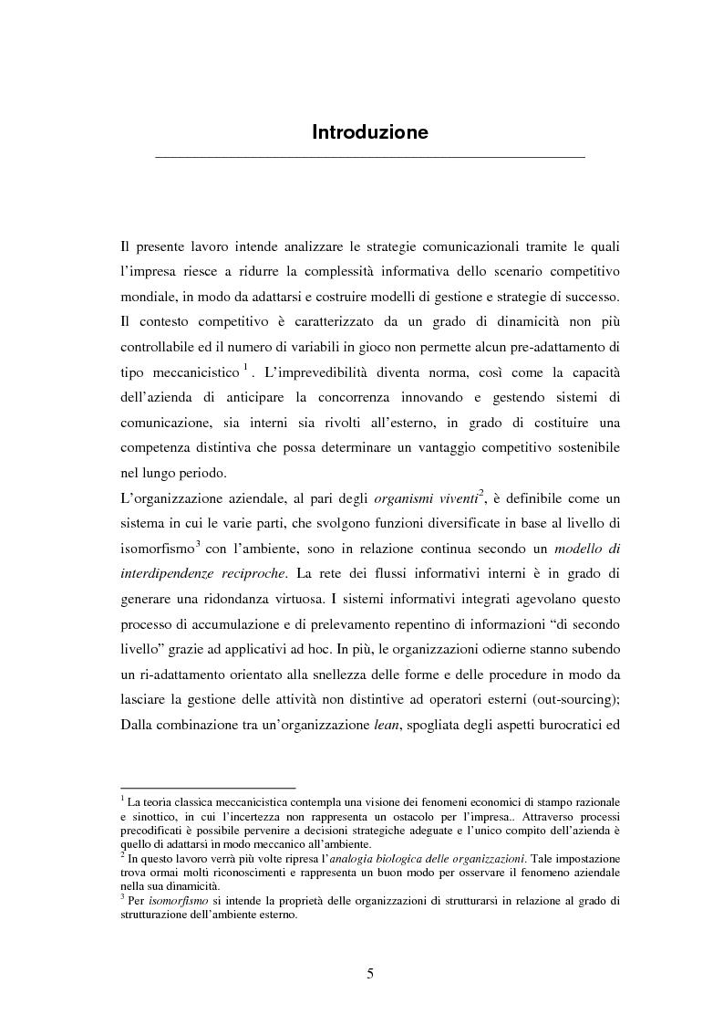 Anteprima della tesi: La comunicazione come leva del successo aziendale, Pagina 1