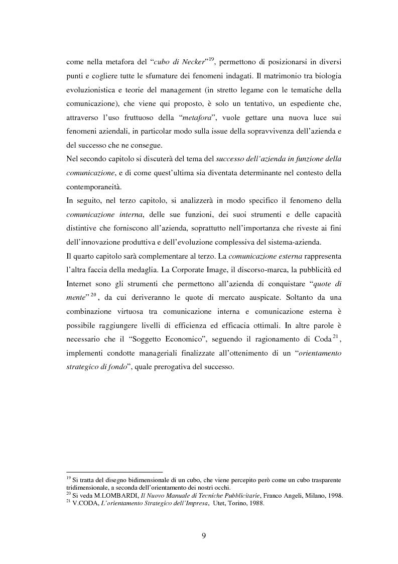 Anteprima della tesi: La comunicazione come leva del successo aziendale, Pagina 5