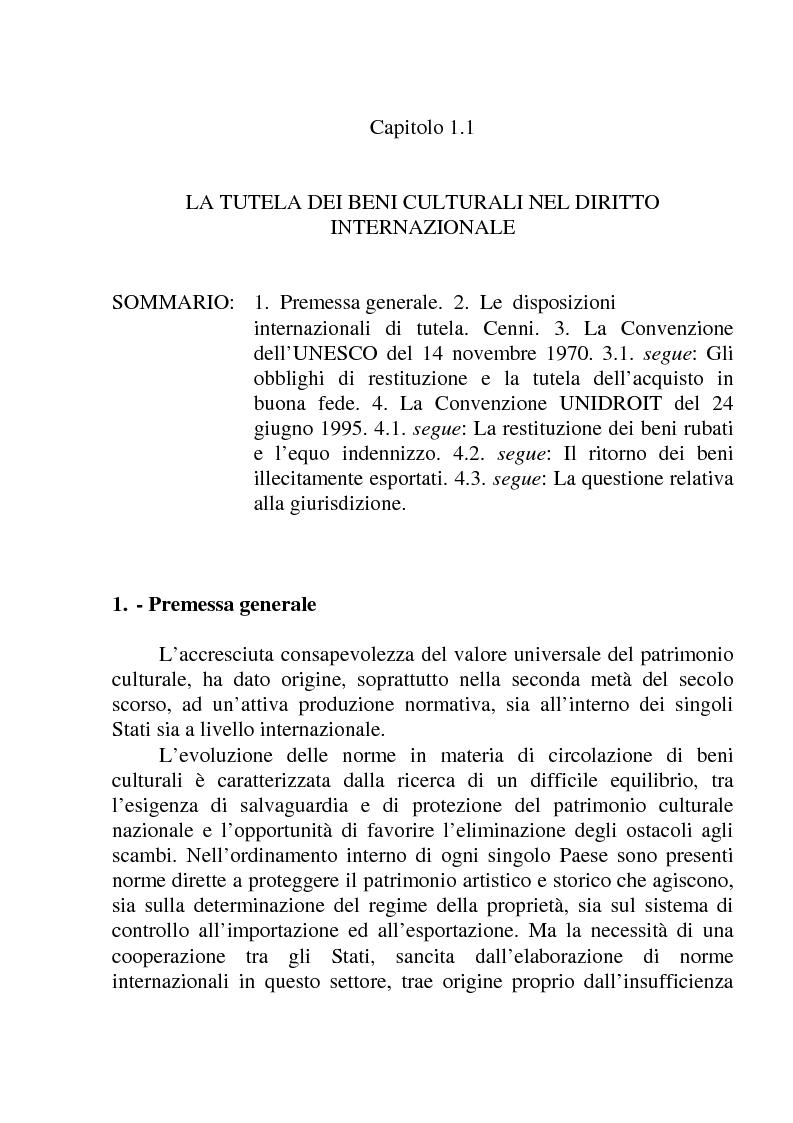 Anteprima della tesi: La circolazione dei beni culturali nella Comunità europea, Pagina 5