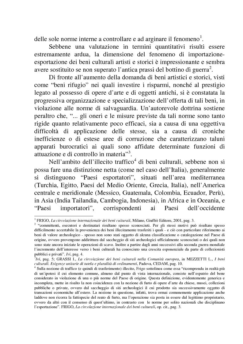 Anteprima della tesi: La circolazione dei beni culturali nella Comunità europea, Pagina 6