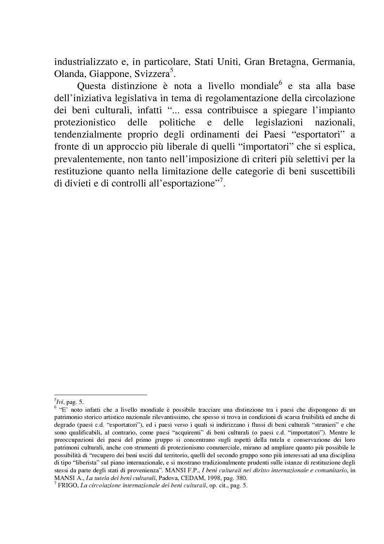 Anteprima della tesi: La circolazione dei beni culturali nella Comunità europea, Pagina 7