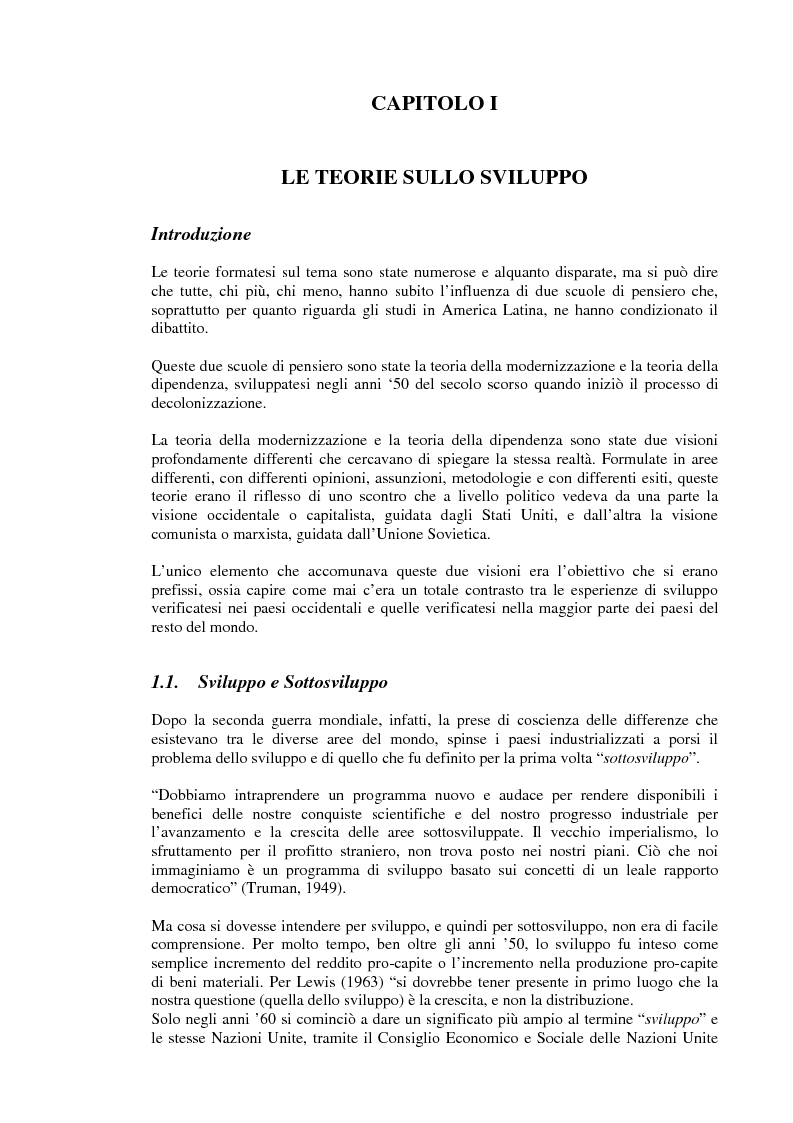 Anteprima della tesi: Rapporto tra sviluppo politico e sviluppo economico: il caso argentino, Pagina 1