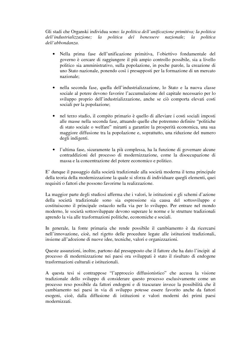 Anteprima della tesi: Rapporto tra sviluppo politico e sviluppo economico: il caso argentino, Pagina 7