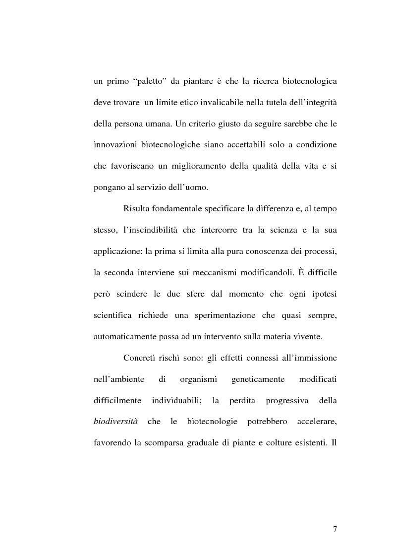 Anteprima della tesi: Problemi etici connessi alle biotecnologie: l'ambivalenza di Faust, Pagina 2