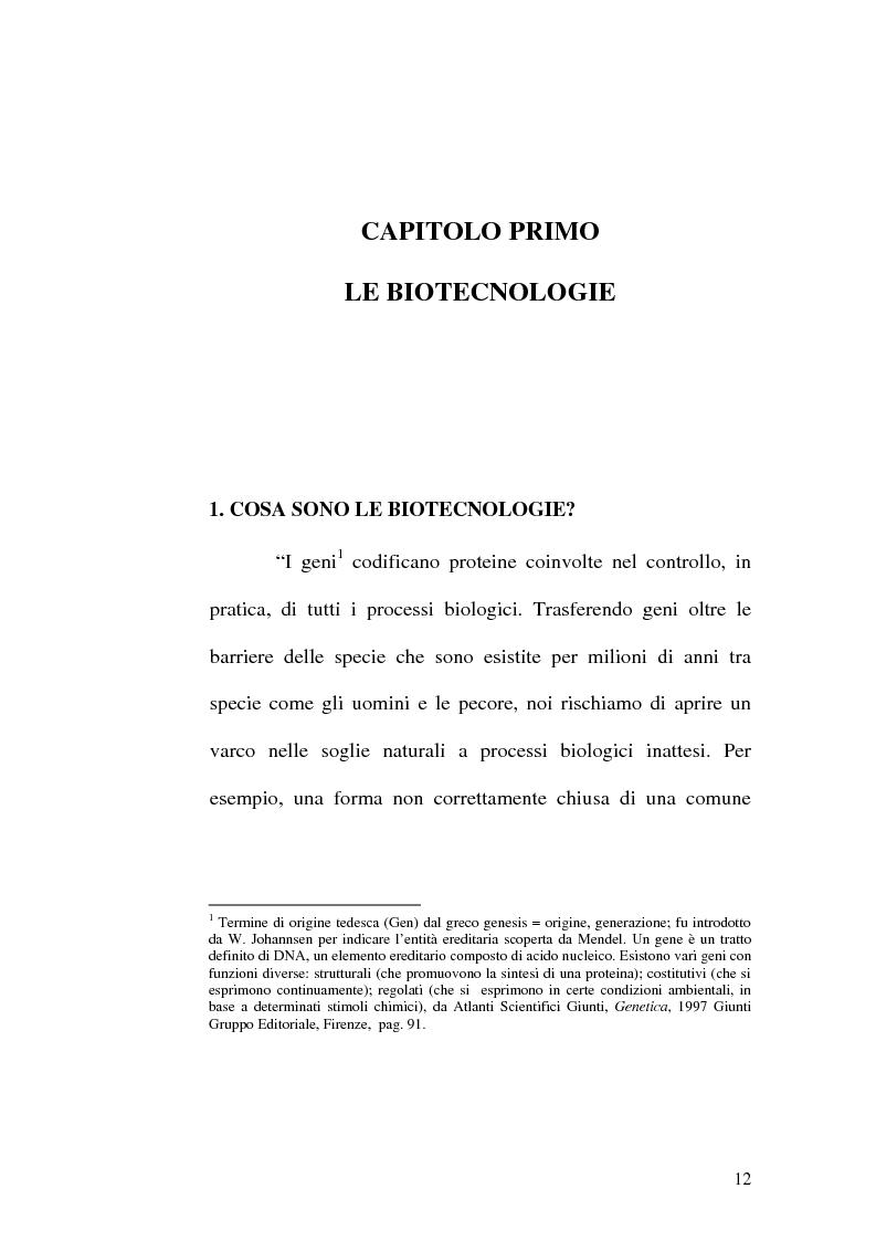 Anteprima della tesi: Problemi etici connessi alle biotecnologie: l'ambivalenza di Faust, Pagina 7