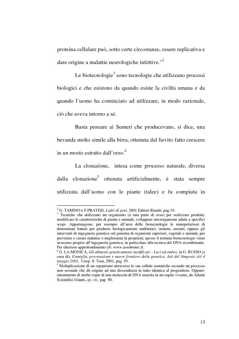 Anteprima della tesi: Problemi etici connessi alle biotecnologie: l'ambivalenza di Faust, Pagina 8