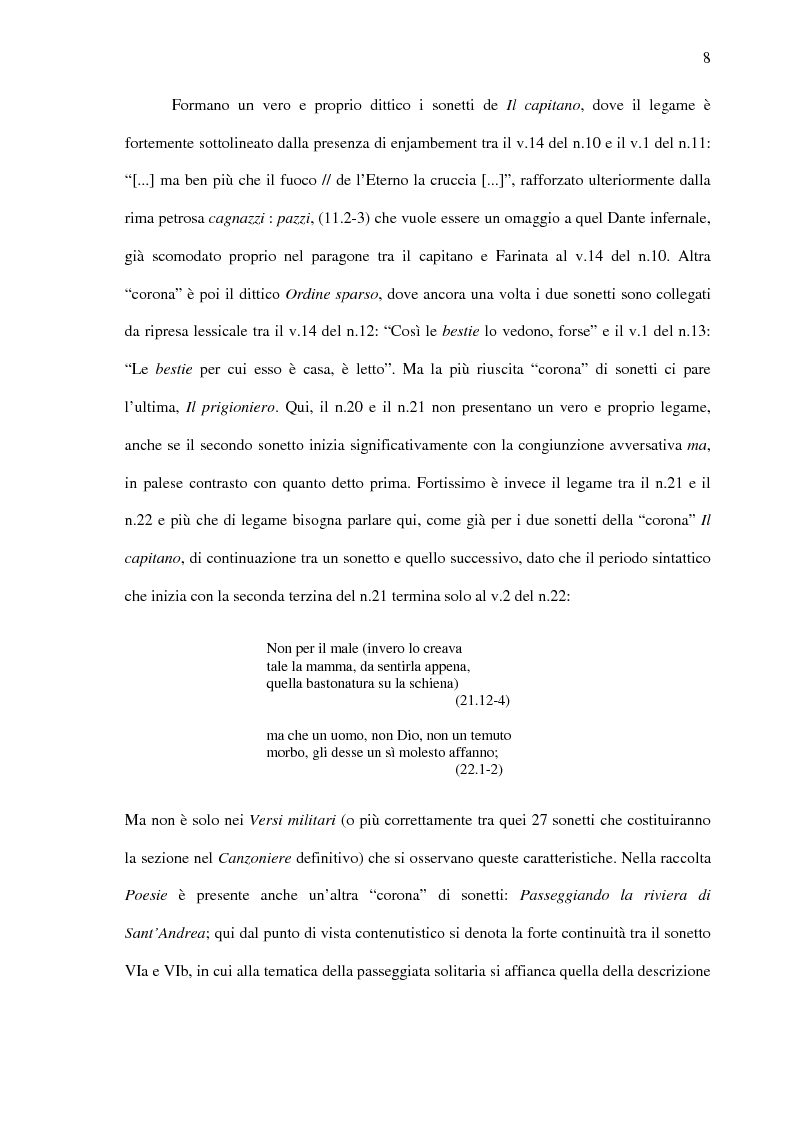 Anteprima della tesi: Saba prima del ''Canzoniere'': ''Poesie'' (1911), Pagina 10