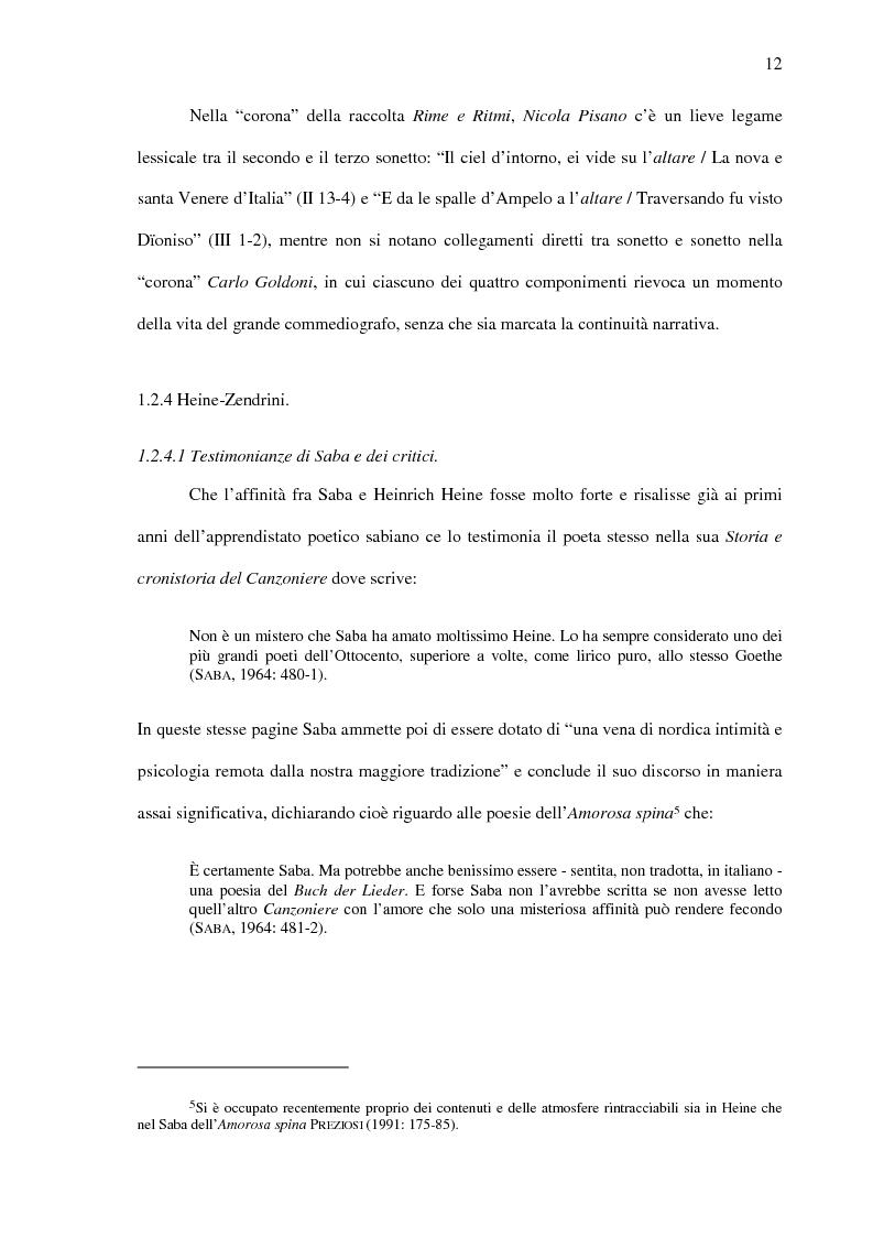 Anteprima della tesi: Saba prima del ''Canzoniere'': ''Poesie'' (1911), Pagina 14