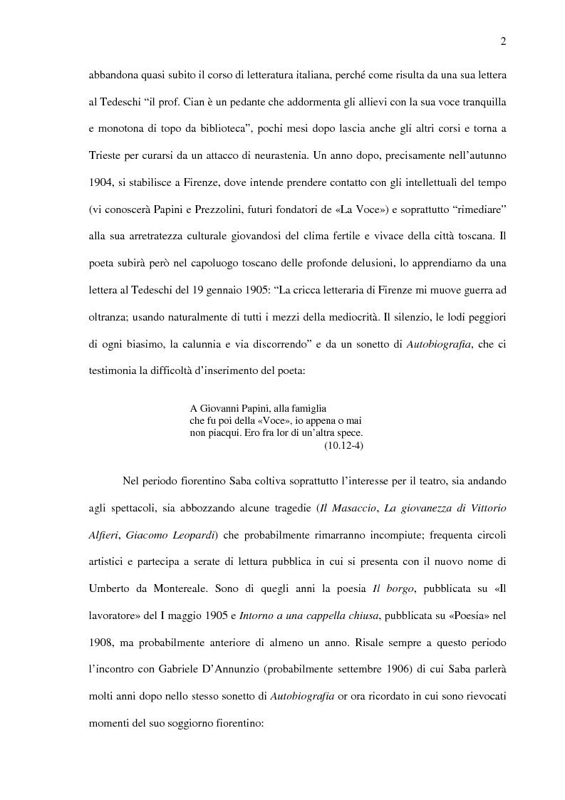 Anteprima della tesi: Saba prima del ''Canzoniere'': ''Poesie'' (1911), Pagina 4
