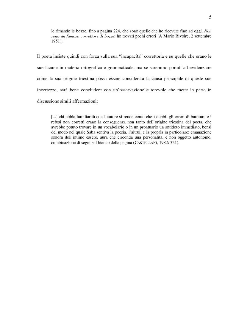 Anteprima della tesi: Saba prima del ''Canzoniere'': ''Poesie'' (1911), Pagina 7