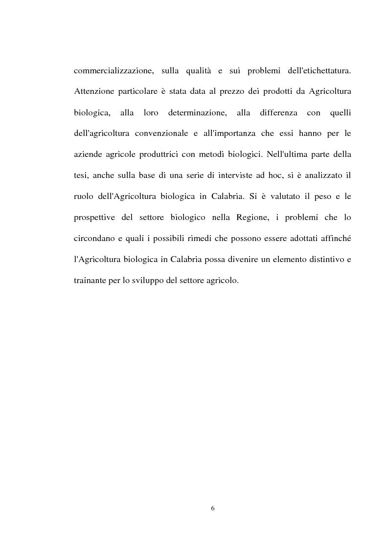 Anteprima della tesi: Le prospettive di sviluppo dell'agricoltura biologica in Calabria, Pagina 2