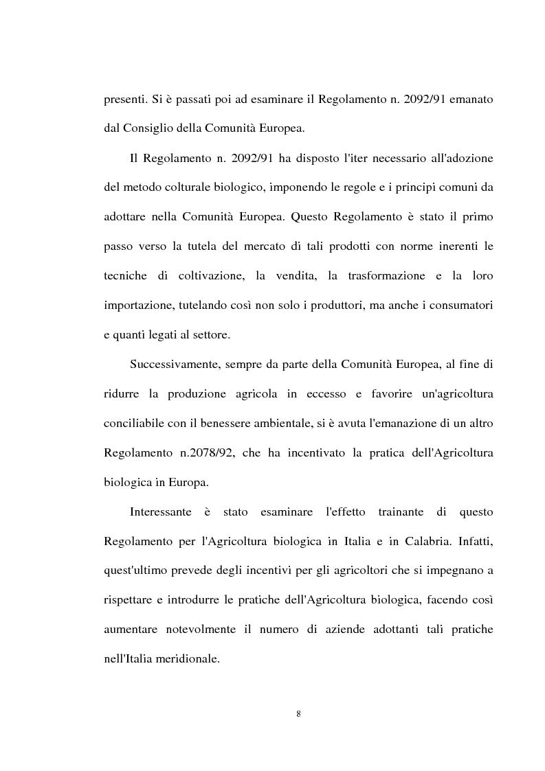 Anteprima della tesi: Le prospettive di sviluppo dell'agricoltura biologica in Calabria, Pagina 4