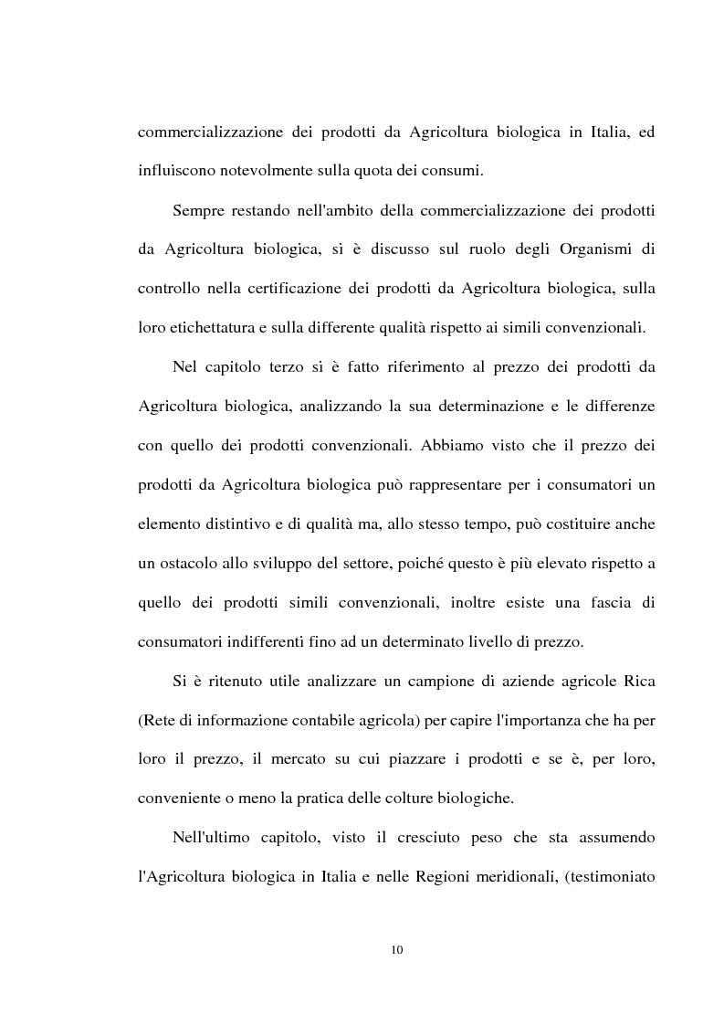 Anteprima della tesi: Le prospettive di sviluppo dell'agricoltura biologica in Calabria, Pagina 6