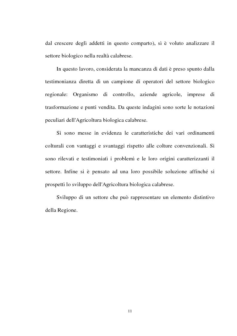 Anteprima della tesi: Le prospettive di sviluppo dell'agricoltura biologica in Calabria, Pagina 7