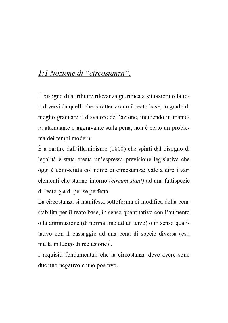 Anteprima della tesi: Il nuovo regime d'imputazione delle circostanze aggravanti, Pagina 1