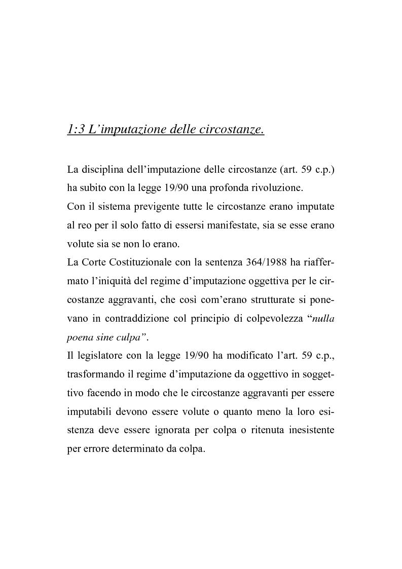 Anteprima della tesi: Il nuovo regime d'imputazione delle circostanze aggravanti, Pagina 11