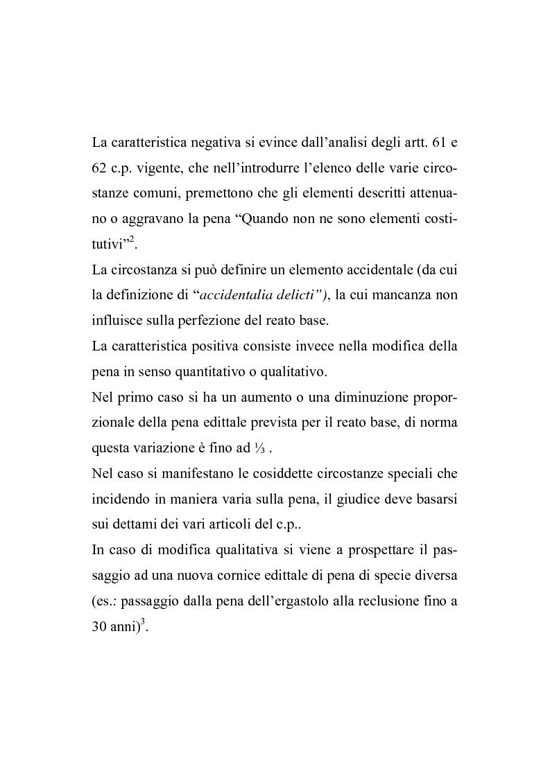Anteprima della tesi: Il nuovo regime d'imputazione delle circostanze aggravanti, Pagina 2