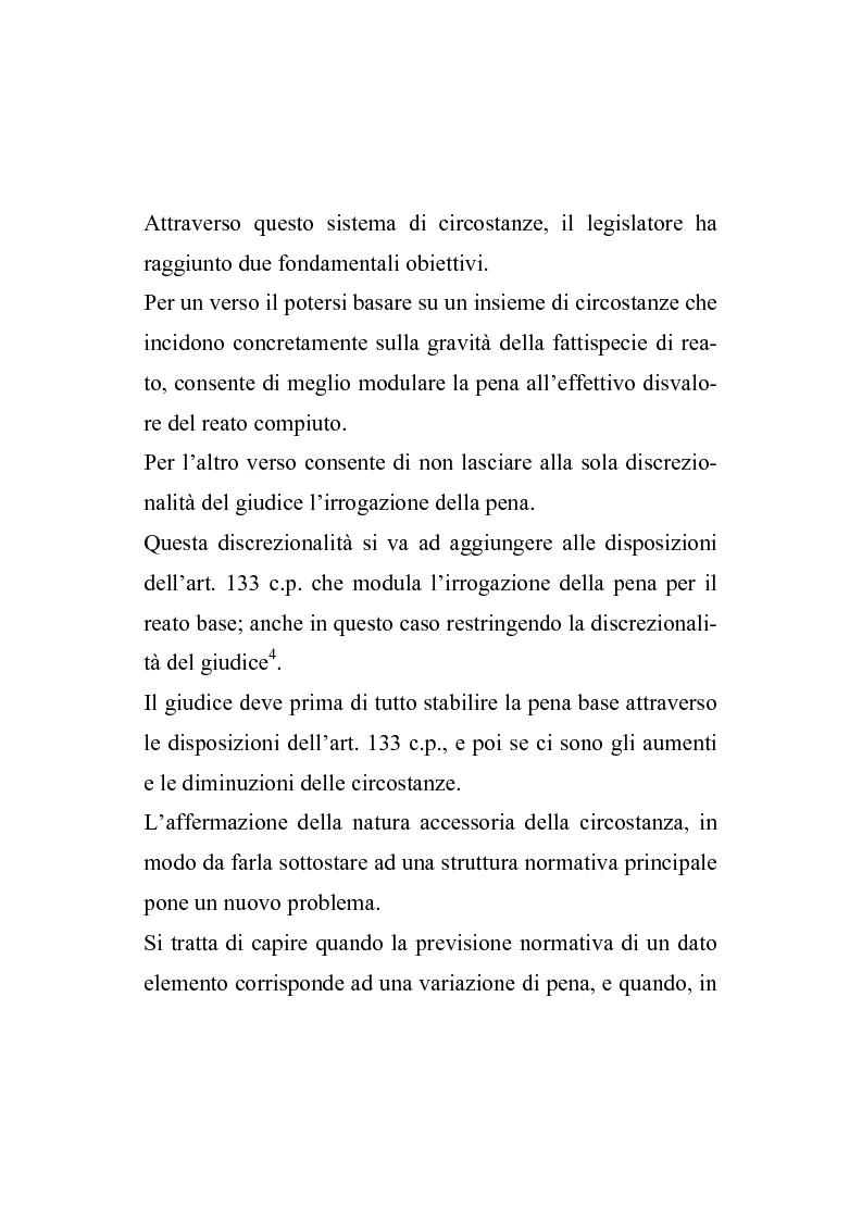 Anteprima della tesi: Il nuovo regime d'imputazione delle circostanze aggravanti, Pagina 3