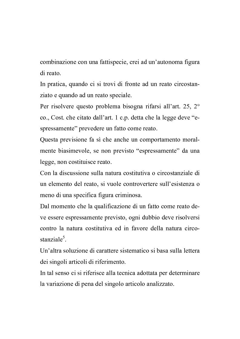 Anteprima della tesi: Il nuovo regime d'imputazione delle circostanze aggravanti, Pagina 4