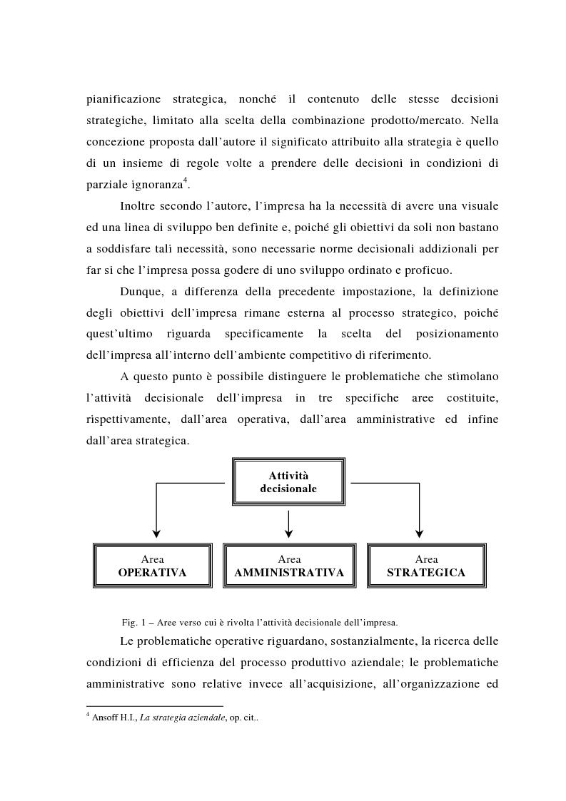 Anteprima della tesi: Il posizionamento strategico come fonte del vantaggio competitivo, Pagina 12