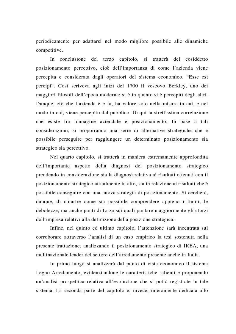 Anteprima della tesi: Il posizionamento strategico come fonte del vantaggio competitivo, Pagina 3