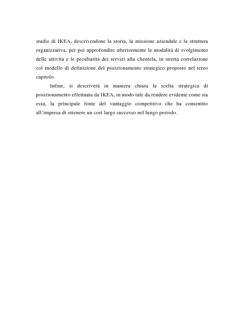 Anteprima della tesi: Il posizionamento strategico come fonte del vantaggio competitivo, Pagina 4
