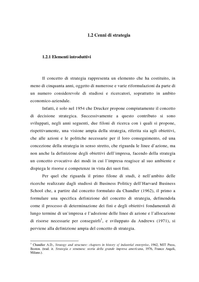 Anteprima della tesi: Il posizionamento strategico come fonte del vantaggio competitivo, Pagina 7