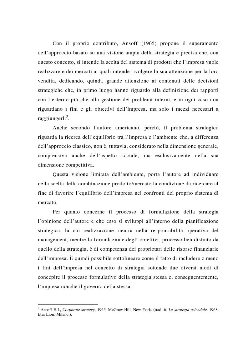 Anteprima della tesi: Il posizionamento strategico come fonte del vantaggio competitivo, Pagina 9