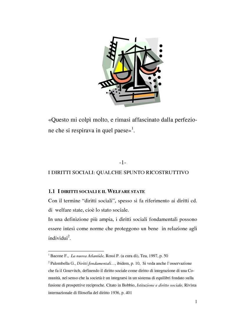Anteprima della tesi: I diritti sociali e l'Unione europea, Pagina 1