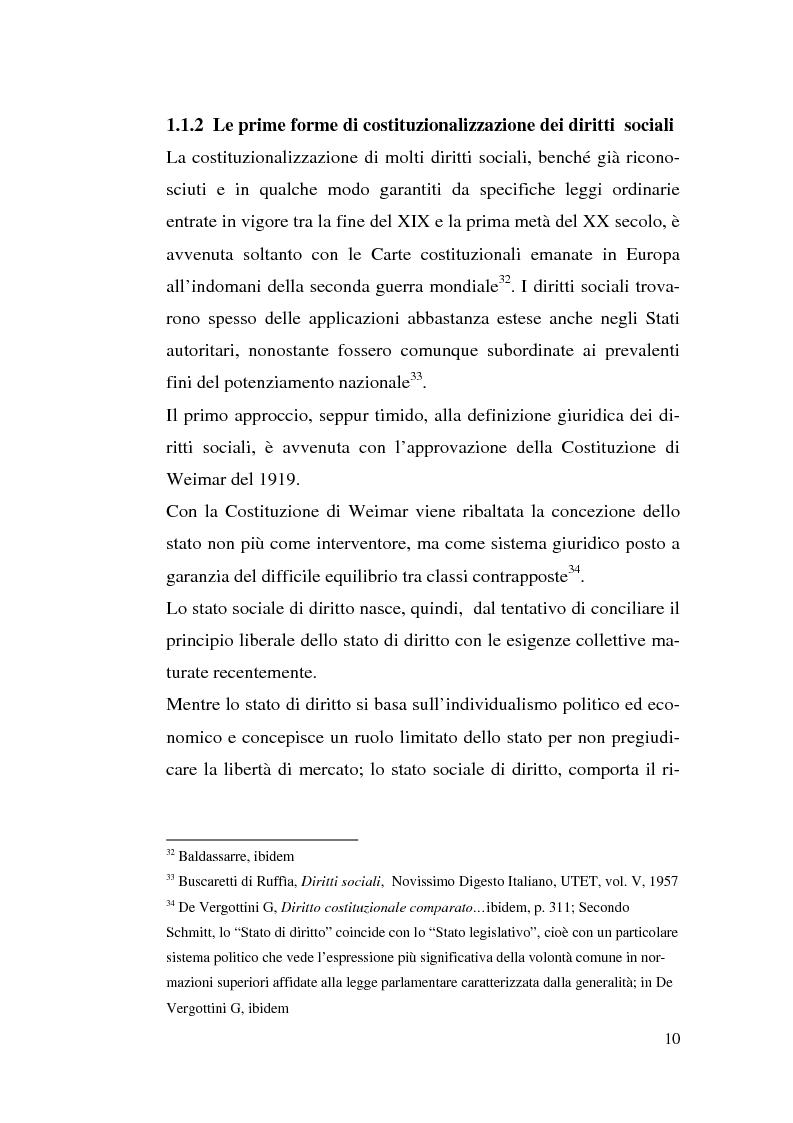 Anteprima della tesi: I diritti sociali e l'Unione europea, Pagina 10