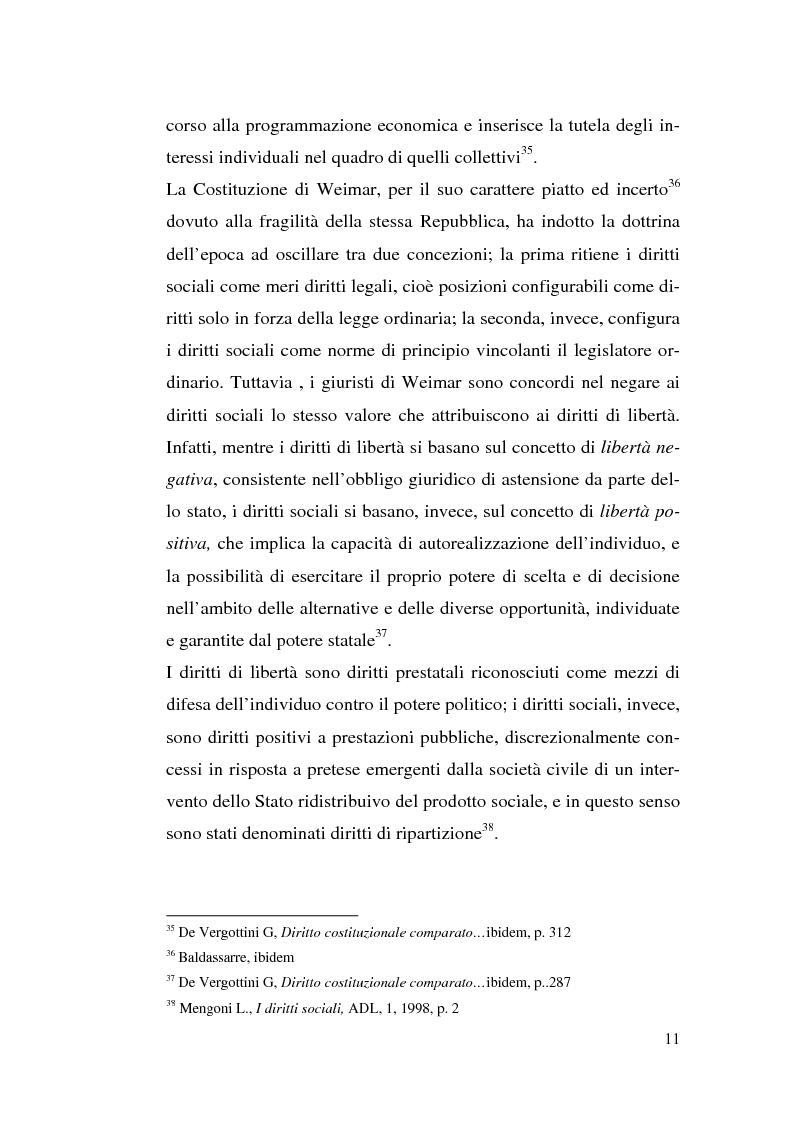 Anteprima della tesi: I diritti sociali e l'Unione europea, Pagina 11